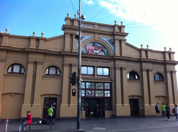 Façade of the historic Queen Victoria market in Melbourne, Australia (photo by Emily Gan).